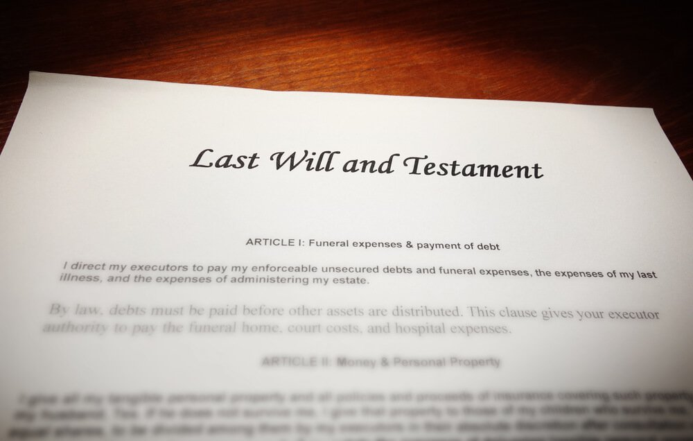 Picture of a Will on a Table