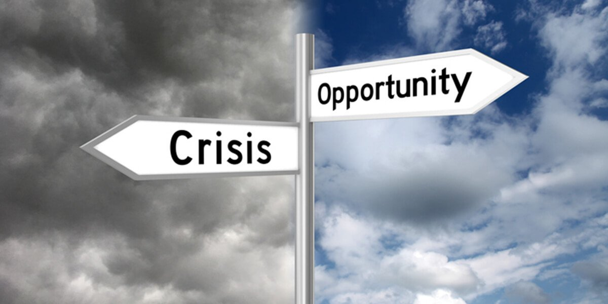 crisis opportunity recession directional sign - financial planning & investment services farmington