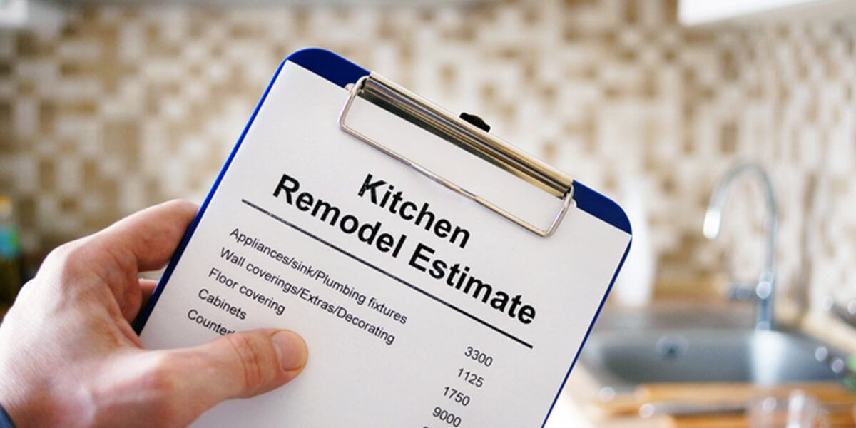 kitchen remodel estimate clipboard - remodel home tips financial planning services farmington