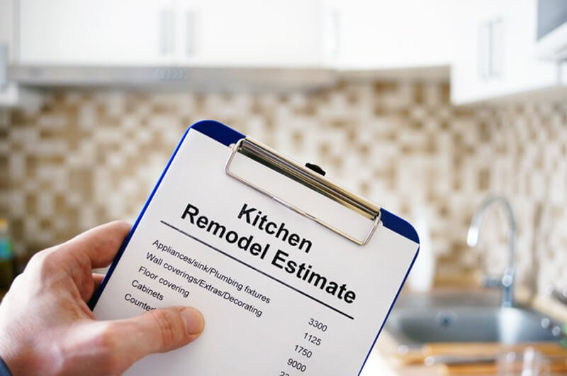 kitchen remodel estimate clipboard - remodel home tips financial planning services farmington